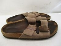 BIRKENSTOCK Sandals Women's Size 6 Slip On Casual Comfort Brown Leather Slides
