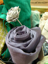 Designers Guild Satinato amethyst silky satin  fabric 145 x 99cm