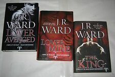 J R WARD lot of 3 HBs LOVER AVENGED Lover Mine KING