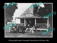 OLD LARGE HISTORIC PHOTO OF St GEORGE QLD, CAVANOUGHS GENERAL STORE c1904