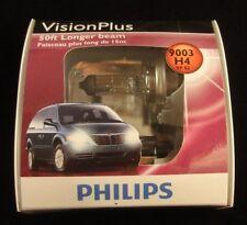 Philips 9003 H4 VP S2 50 ft Longer Beam VisionPlus Halogen Upgrade