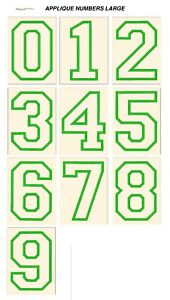 APPLIQUE NUMBERS BIG FONTS. CD or USB machine embroidery designs files formats