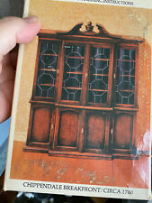 Vintage Dollhouse House of Miniatures Wood Chippendale Hutch Breakfront DIY Kit