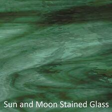 8X10 Spectrum Glass Sheet S422-1W Deep Olive/SeaGreen Waterglass Stained Glass