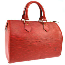 LOUIS VUITTON SPEEDY 25 HAND BAG PURSE RED EPI LEATHER M43017 VI0993 01927