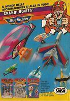X4082 Lancia aerei MicroMachines - GIG - Pubblicità 1991 - Advertising