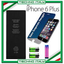 BATTERIA NUOVA ORIGINALE PER APPLE iPhone 6 PLUS 2915mAh 0 CICLI+ADESIVO E VETRO