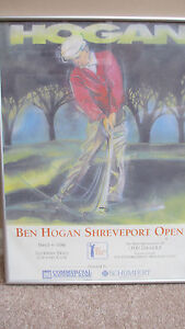 Framed BEN HOGAN Shreveport Open Poster, Circa 1990 to 1993~Southern Trace CC