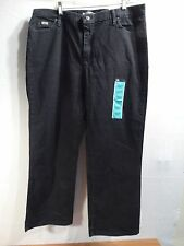 LEE'S WOMEN PLUS SIZE 39 X 30 RELAXED FIT STRAIGHT LEG JEANS-BLACK- BRAND NEW!
