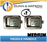 Medium Paddle Handle (Lock, Latch) x2 Camper Trailer, Caravan Toolbox, Motorhome