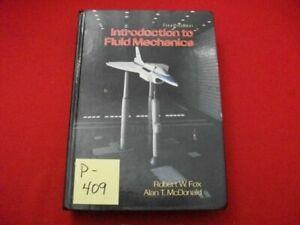 1992 4th ED. INTRODUCTION TO FLUID MECHANICS BY ROBERT W. FOX & ALAN Mc DONALD