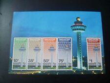 SINGAPORE MINIATURE SHEET M/S STAMP -29 Dec 1981 CHANGI AIRPORT AIRCRAFT CONTROL