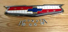 1955 CHEVY TRUNK EMBLEM ASSEMBLY with HARDWARE NEW   ** USA MADE **