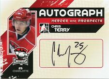 10/11 ITG HEROES & PROSPECTS AUTOGRAPH AUTO CHRIS TERRY CHECKERS *35178