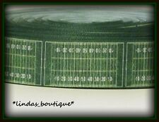"1YD 1"" FOOTBALL FIELD TURF GRASS CRAFT HAIRBOW GROSGRAIN RIBBON GREEN"