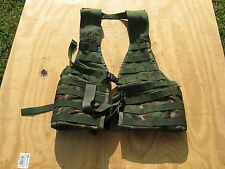 GENUINE US MILITARY SURPLUS BDU WOODLAND MOLLE II COMBAT LOAD CARRYING VEST