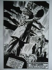 MARVEL THE POWER OF WARLOCK # 7 BOB BROWN TOM SUTTON LAST PAGE 24 PRODUCTION ART
