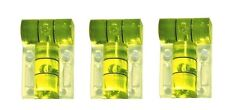 "Three 2 Axis 23mm x 15mm ""T"" Dual Tube Vial Bubble Spirit Level Screw Mountable"