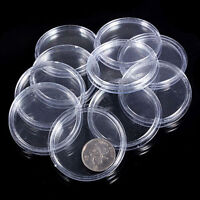 Coin 30mm Boxes Storage Applied Clear Round Cases Capsules Holder