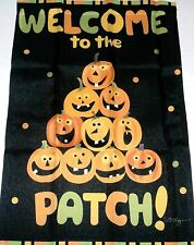 "Decorative Halloween Garden Flag 12 1/2"" x 18"" Welcome To The Patch"