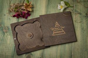 FOR 2 DVD/CD Customized, Wedding cd case, wedding case, wooden Wedding dvd case