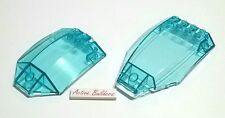 Lego Windscreen Curved 6 x 8 / 6 x 10 Clear Light Blue 76021 Spaceship