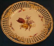 KPM Berlin Porcelain Breslauer Stadtschloss Reticulated Plate Porzellan Teller 4