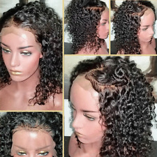 Soft Curly Malaysian Virgin Human Hair Lace Front Wig Full Wigs with Baby Hair T