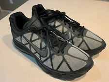 "NIKE ID Men's ""Air Max Plus 2011"" Black/Grey Running Shoes Size 12"