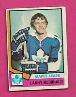 1974-75 TOPPS # 168 LEAFS LANNY MCDONALD  ROOKIE GOOD CARD (INV# D1024)