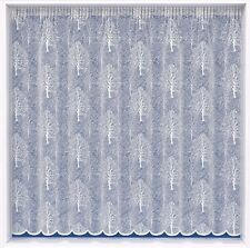 PURE WHITE MODERN OAKLAND CEDAR TREES LUXURY LACE NET CURTAIN SOLD BY THE METRE
