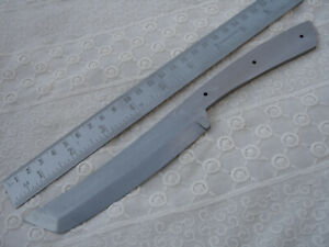 "9.25"" custom made big spring steel special design hunting knife blank blade S"