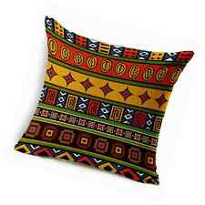 """Cotton Linen Throw Pillow Case Cushion Cover,Ethnic African Style (18""""x18"""")"""