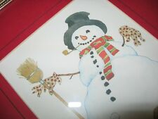 "Vintage ""Frosty The Snowman"" Framed Christmas Card"