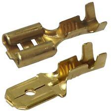 200x Cosse électrique mâle femelle plate 6.3mm 0.8mm 0,5...1,5mm2