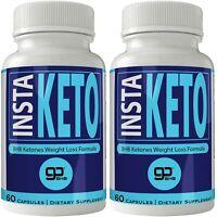 Insta Keto Boost Pills 2 Bottle Pack Pure Instaketo Capsules Instaketones BHB...