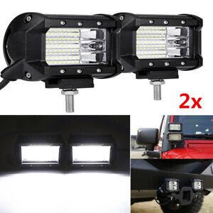 2x 3Row LED 450W LED Work Light Bar Flood Offroad Truck Fog Driving Backup Lamp