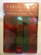 Bed Bath & Beyond CHRISTMAS PARTY DRESS Tablecloth 60 X 84  New Old Stock Oblong