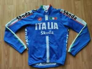 Castelli Team Italia National Fleece Cycling Jacket , Skoda  Size: M