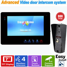 "7""TFT Door Monitor Video Intercom System w/800 TVL IR Camera Support CCTV Camera"