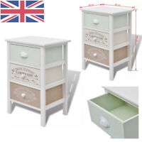 Shabby Chic Storage Cabinet with 3 Drawers Wood French Country Style Bedroom