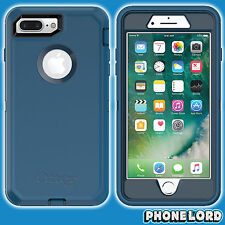 Genuine OtterBox Defender case cover for iPhone 7 8 PLUS Heavy Duty rugged BLUE