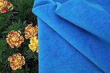 BTHY Vintage BLUE COTTON VELVET VELVETEEN FABRIC Antique Doll Dress Crafts Quilt