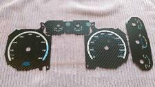 Ford Focus Mk2 RS/ST Carbon Dial/Gauge Conversion Kit, Retro RS Blue