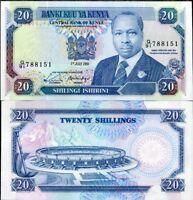 KENYA 20 SHILLINGS 1991 P 25 UNC