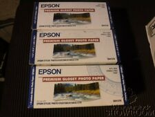 3 New Sealed Box Genuine OEM Epson S041376 Premium Glossy Photo Paper 10M 1 Roll