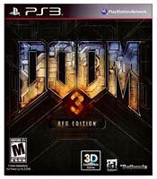 Doom 3 BFG Edition (PS3 BRAND NEW FACTORY SEALED) Sony PlayStation 3 id Bethesda