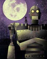 The Iron Giant w/ Hogarth Signed Art Print by Disney Artist Bryan Fyffe Remarque