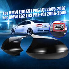 2x L+R Spiegelkappe Gehäuse M3 Stil Ersatz Glanz Schwarz Für BMW E90 E91 E92 DE