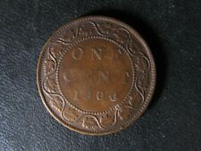 1 cent 1900H Canada one penny copper coin large Queen Victoria c ¢ F-15